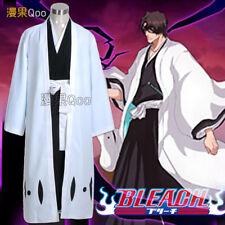 Japón Bleach Aizen Sousuke capitán del equipo 5th Uniforme Kimono Cosplay Disfraz