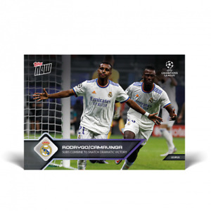 2021 Topps Now UCL UEFA #27 Rodrygo Eduardo Camavinga Real Madrid C.F. PRESALE