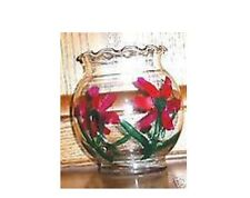 HAND PAINTED CANDLE HOLDER OR POTPOURRI JAR  ~ CUTE ~bowl, glass
