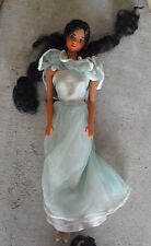 Vintage 1982 Mattel Black Hair Barbie Friend Doll in Evening Gown Outfit