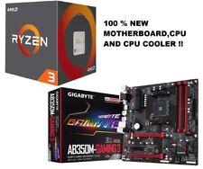 AMD RYZEN 3 1200 4-Core 3.1 GHz-3.4 GHz , Gigabyte GA-AB350M-Gaming 3 COMBO NEW!