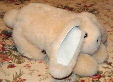 "Great Sheep Co.Genuine Sheepskin Floppy Eared Large Stuffed Bunny Rabbit-USA-18"""