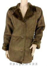 Manteau Veste IKEBANA T 50 / 52 XXL Daim marron Fourrure TBE Coat Mantel Abrigo