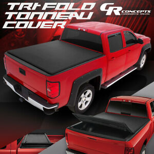 VINYL SOFT TRI-FOLD TONNEAU COVER KIT FOR 2015-2019 FORD F-150 TRUCK 8' LONG BED