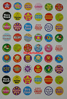 1000 Children's Reward Stickers Chart Motivation Kids Teacher School Well Done C