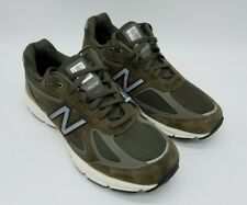 New Balance 990 V4 Women's W990MG4 NB Classic Made in USA Suede Green Army Sz 11