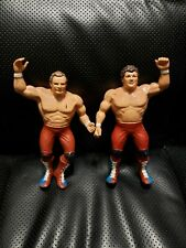 WWF LJN British Bulldogs Davey Boy Smith & Dynamite Kid Wrestling Figures wwe