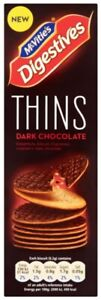 McVities Digestive Thins Dark Chocolate 30 per Box (180g) **Choose QTY**