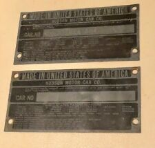 2 Hudson Serial Number Plates Terraplane 29 30 31 32 33 34 35 36 37 38 39 40 VIN
