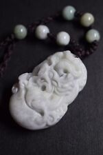 SPECIAL PRICE /CHINESE ZODIAC NECKLACE,HAND CARVED JADE,YEAR OF DRAGON