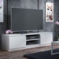 TV Lowboard TV Schrank TV Tisch Sideboard Fernsehtisch 140 cm Matt Weiß