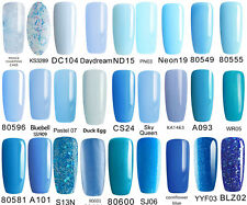 BLUESKY GEL POLISH BLUE,LIGHT BLUE SKY PALE BLUE UV LED NAIL SOAK OFF,ANY 2=FILE