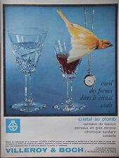 PUBLICITÉ DE PRESSE 1964 VILLEROY & BOCH CRISTAL AU PLOMB - ADVERTISING