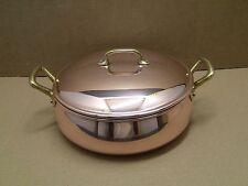Vintage Ruffoni 4 Quart Copper, Tin Lined, Braiser Pan Pot