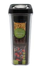 Pioneer Pump Fresh Vacuum Food Storage Container Canister Jar, Black, 2 Litre