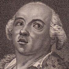 Portrait XVIIIe Joseph Balsamo CAGLIOSTRO Palermo Sicilia Marie Antoinette 1796