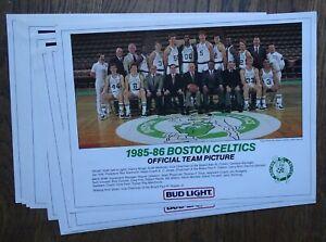 1985-1986 Boston Celtics Team Picture (9 of same Bud Light Poster) Larry Bird +
