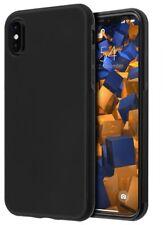 mumbi Hülle für Apple iPhone X Schutzhülle double GRIP schwarz Case Tasche Cover