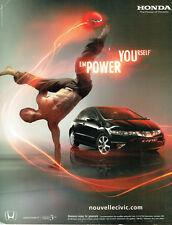 Publicité Advertising 117  2006  Honda  la nouvelle Civic power *