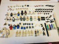STAR WARS LEGO mini-figures storm troopers clone battle droids jango fett weapon