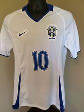 Nike Ronaldinho #10 Brasil Brazil Soccer Athletic Home Jersey Large (G) Golaco