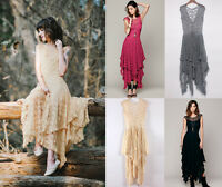 NEW CHIC SHEER FLORAL LACE BEACH SUMMER WEDDING MAXI DRESS BLOGGERS FAV PRETTY