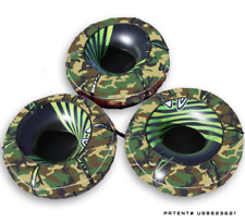 3 Pack Heavy Duty Hardcore Camo Linking River Rat Covers and Tubes Inflatables