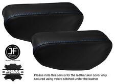 Blue Stitch 2x Sedile Bracciolo in pelle copre Si Adatta Mitsubishi Pajero Shogun 90-01