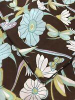 Vintage Springs Pair Standard Pillow Shams Brown Floral Butterflies USA