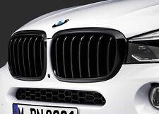 BMW OEM M Performance Black Kidney Grille SET F16 X6, F15 X5 51712334708/710