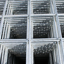 "3x Welded Wire Mesh Panels 1.2x2.4m Galvanised 4x8ft Steel Sheet Metal 2"" Holes"