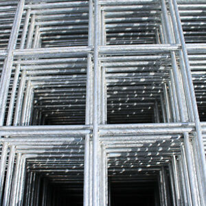 "Galvanised Wire Mesh Panels | 3 Pack | 12 Gauge | 2.44m x 1.22m | 2"" Holes"