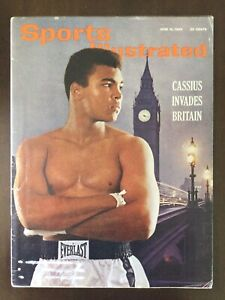 1963 Sports Illustrated MUHAMMAD ALI Cassius CLAY First Cover INVADES BRITAIN
