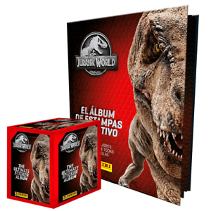 Jurassic World The Ultimate Collection PANINI Stickers cards HARDCOVER ALBUM BOX