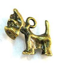 10Pcs. Tibetan Antique Bronze Scottie Terrier Dog Charms Pendants Findings D46