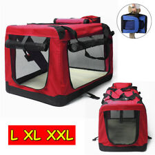 3 Size L XL XXL Pet Soft Crate Portable Dog Cat Carrier Travel Cage Kennel - Red