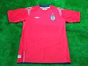 🟢England Football Shirt Umbro Official Product 2004-2005 JERSEY🟢-L-