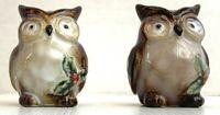 Owl Salt Pepper Shakers Christmas Cracker Barrel Susan Winget Woodland Pattern