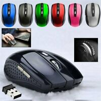 2.4G Wireless Optical Mouse 6Button for PC Laptop Notebook Computer USB Receiver