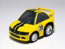 TAKARA TOMY Choro-Q Chibikko Mitsubishi LANCER EVO VII NO.5 Yellow Pullback Car