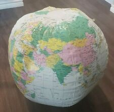 Giant Blow Up Globe Approx 25 Inches World Geography Education Pool Toy