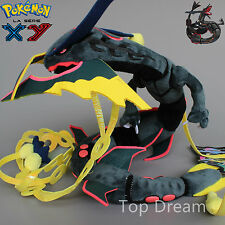 New Pokemon Shiny Black Mega Rayquaza Soft Plush Stuffed Doll Figure Toy 32''