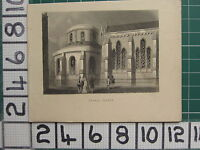1851 Antico London Stampa ~ Temple Chiesa