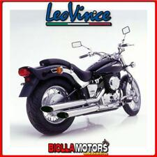 scarico completo leovince yamaha xvs 650 drag star 1997-2002 silvertail k02 acci