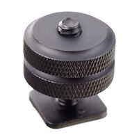 "NEW Pro Type 1/4""-20 Tripod Screw to Flash Hot Shoe Mount Adapter BLACK"