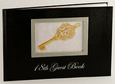 Black 18th Birthday Party Guest Book with Key Design | Keepsake | Gift | Present