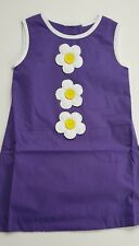 EX-BODEN GIRLS RETRO FLOWER DRESS PURPLE-YELLOW-RED BNWOT AGES 2-3-4-5-6-7-8