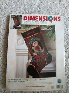 "Dimensions ""Gift Bearing Teddy"" Stocking Kit. #8682"