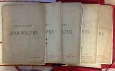 5 CATALOGUES DE VENTE COLLECTION JEAN DOLLFUS MARS-MAI 1912 GALERIE GEORGE PETIT