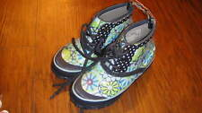 NEW BOGS GIRLS SZ 13 BLUE FLORAL BOOTS